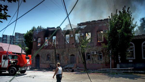 Луганск после артобстрела 21 июля 2014
