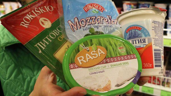 Молочные продукты литовских производителей, архивное фото