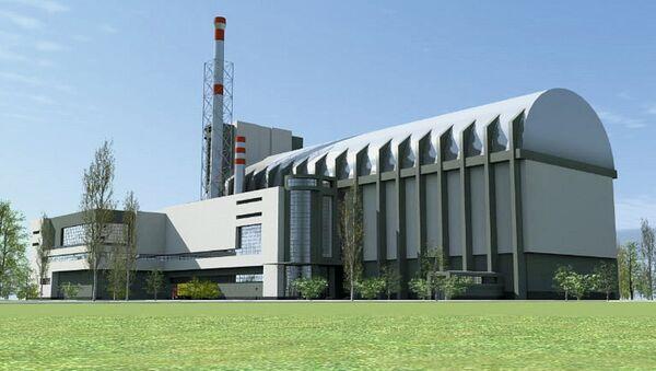 Макет главного здания многоцелевого исследовательского реактора МБИР. Архивное фото