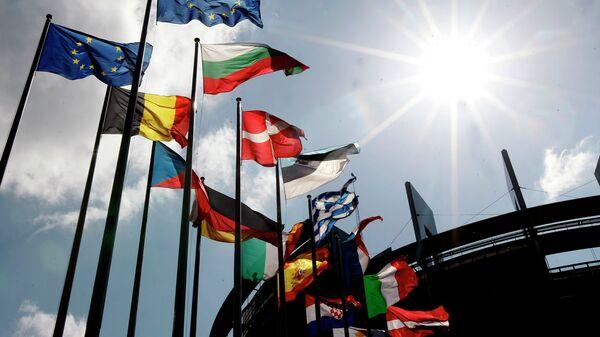 Флаги европейских стран, архивное фото