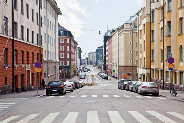 На одной из улиц в Хельсинки