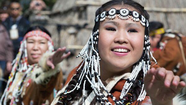 Жители Камчатки в национальных костюмах. Архивное фото