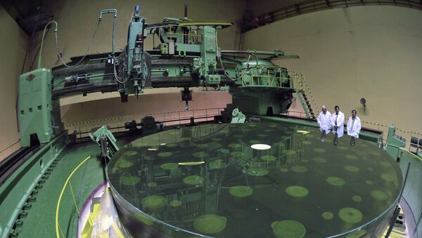 Полировка главного зеркала Большого Телескопа Альт-Азимутального
