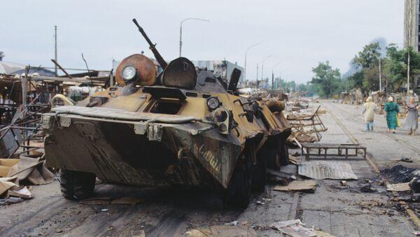 Подбитый танк в Абхазии