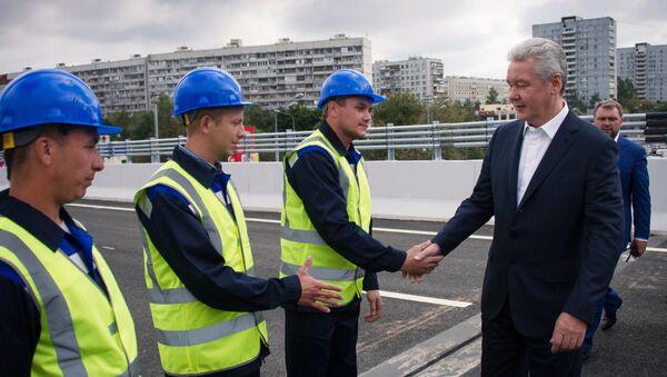 Собянин открыл новую эстакаду на Варшавском шоссе