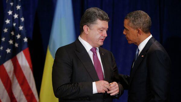 Президенты Украины и США Петр Порошенко и Барак Обама. Архивное фото