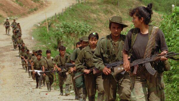 Повстанцы из Революционных вооруженных сил Колумбии. Архивное фото