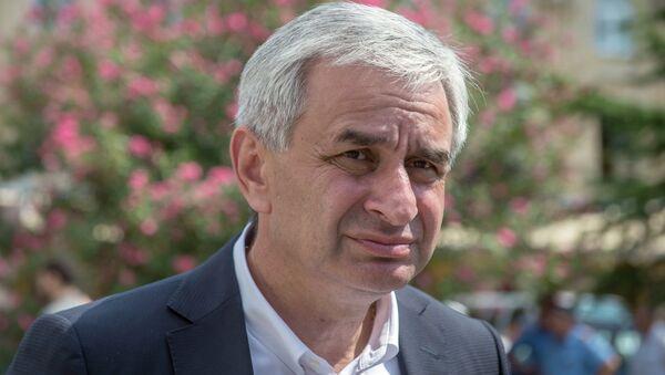 Избранный президент Республики Абхазия Рауль Хаджимба