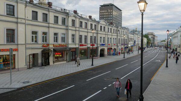 Открытие пешеходной зоны на Маросейке и Покровке.