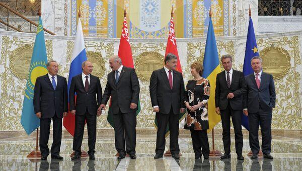 Визит В.Путина в Белоруссию. Архивное фото