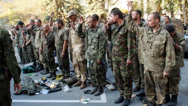 Украинские военные вышли из окружения под Иловайском. Архивное фото