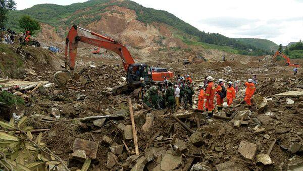 Последствия оползня на юго-востоке Китая