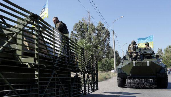 Украинские военные в пригороде Мариуполя. Архивное фото