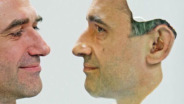 Лицо, напечатанное на 3D-принтере