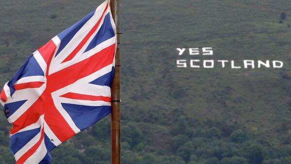 Надпись в поддержку независимости Шотландии в Западном Белфасте. Архивное фото
