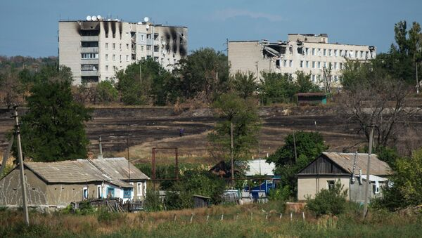 Жилые дома в Луганской области, архивное фото