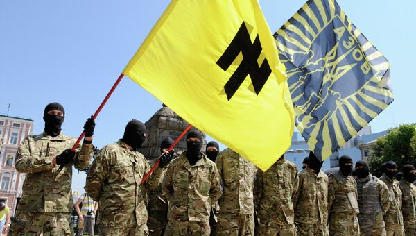"Бойцы батальона ""Азов"" на Украине, архивное фото"