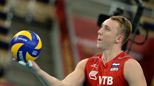Игрок сборной России по волейболу Алексей Спиридонов