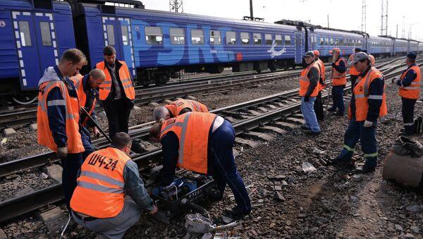 Авария на железной дороге. Архивное фото