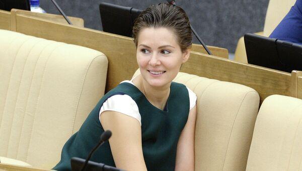 Мария Кожевникова на пленарном заседании Госдумы РФ. Архивное фото