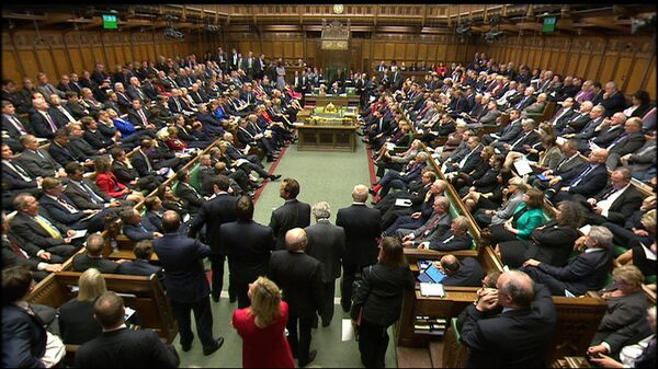 Заседание парламента в Лондоне, Великобритания
