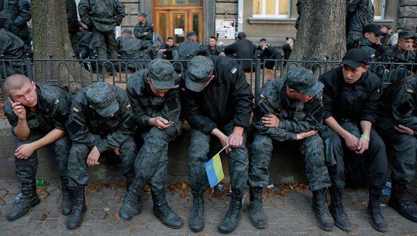 Бойцы Нацгвардии Украины устроили бунт и пошли на Киев. Архивное фото