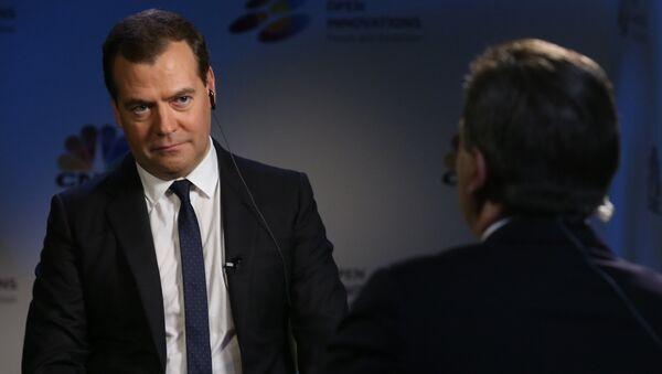 Д.Медведев дал интервью американскому телеканалу CNBS