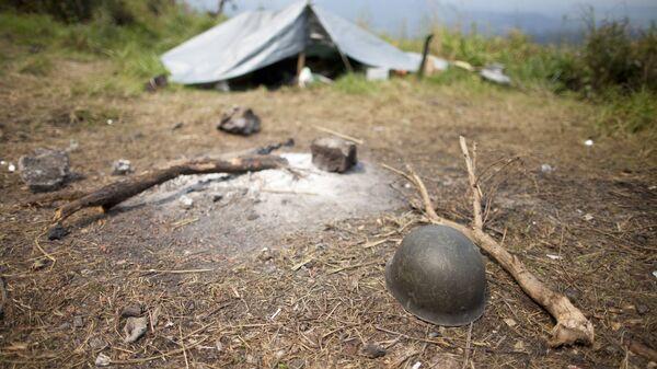 Полевой лагерь в Демократической Республике Конго