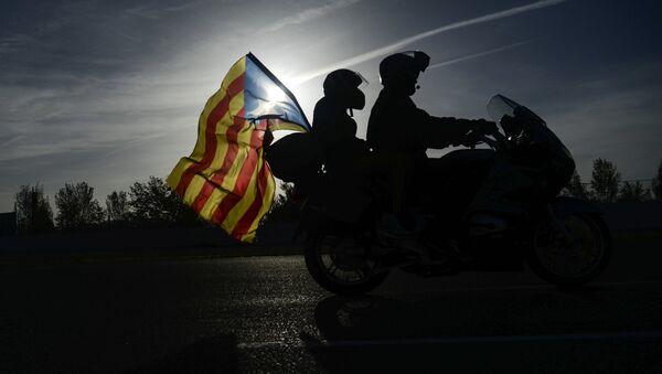 Флаг Каталонии, архивное фото