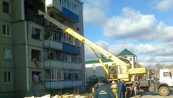 Обрушение дома в городе Данков Липецкой области