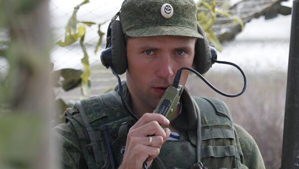 Российский военнослужащий выходит на связь