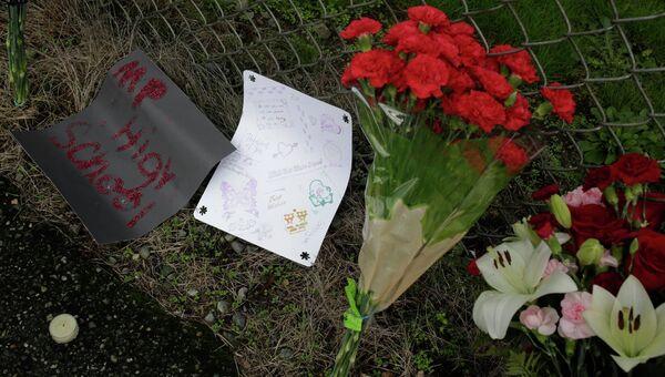 Цветы в память погибшим в школе Marysville-Pilchuck