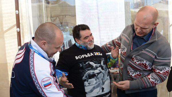 Георгий Брюсов, Михаил Куснирович и Александр Карелин (слева направо)