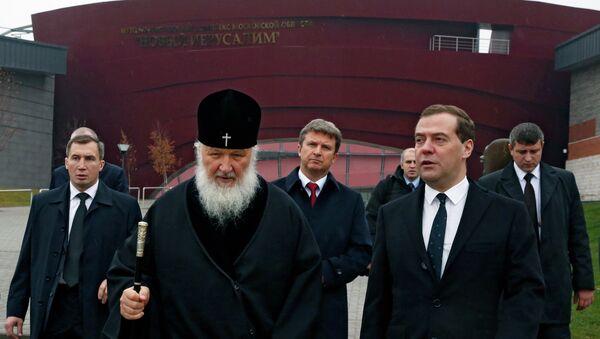 Д.Медведев посетил Воскресенский Ново-Иерусалимский монастырь