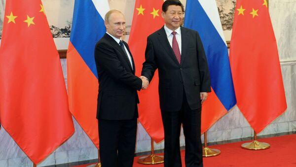 Рабочий визит В.Путина в Китайскую Народную Республику. Архивное фото