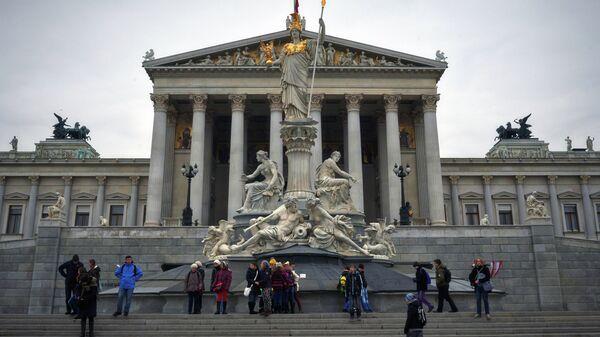 Вид на здание австрийского парламента в Вене