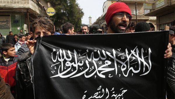 Противники президента Сирии Башара Асада во время демонстрации. Архивное фото