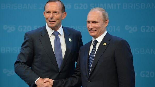 Тони Эбботт и Владимир Путин на саммите G20 в Брисбене