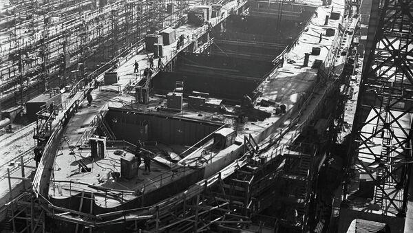 Строительство атомного ледокола Ленин