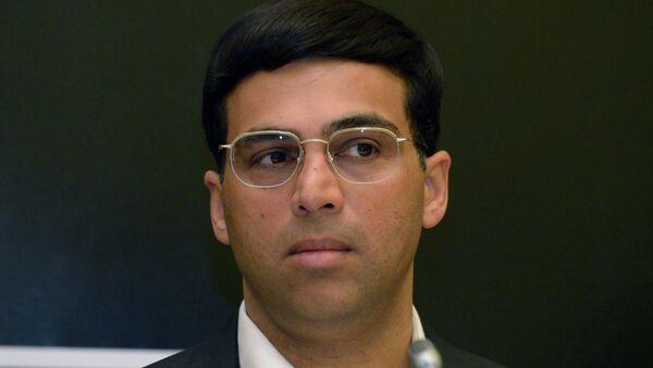 Индийский шахматист Вишванатан Ананд, архивное фото