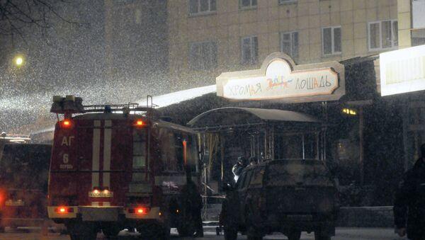 Ночной клуб Хромая лошадь в Перми после пожара. Архивное фото