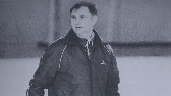 Портрет советского хоккеиста и заслуженного тренера СССР Виктора Тихонова. Архивное фото