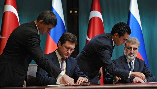 Министр энергетики РФ Александр Новак и министр энергетики и природных ресурсов Турции Танер Йылдыз. Архивное фото
