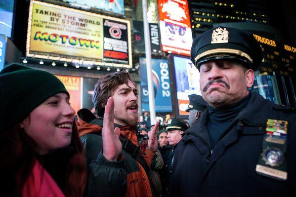 Протесты в центре Манхэттена