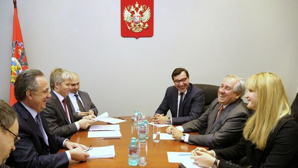 Рабочая встреча Виталия Мутко с президентом Международной федерации волейбола (ФИВБ) Ари Граса