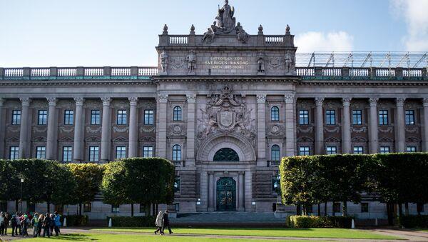 Здание парламента Швеции в Стокгольме