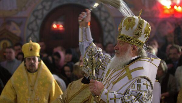 Патриарх Кирилл освятил восстановленный храм преподобного Сергия Радонежского в Царском Селе