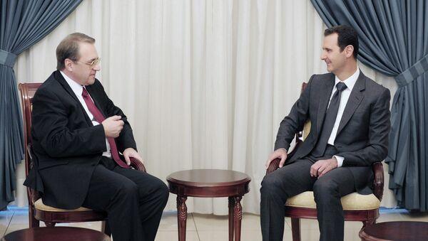 Встреча президента Сирии Башара Асада с заместителем главы МИД РФ Михаилом Богдановым в Дамаске