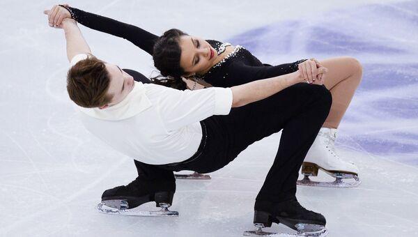 Лина Федорова и Максим Мирошкин в финале юниорского Гран-при по фигурному катанию в Барселоне