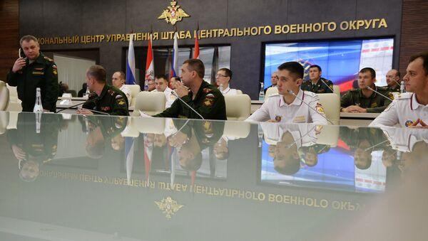Сотрудники регионального центра управления штаба Центрального военного округа. Архивное фото